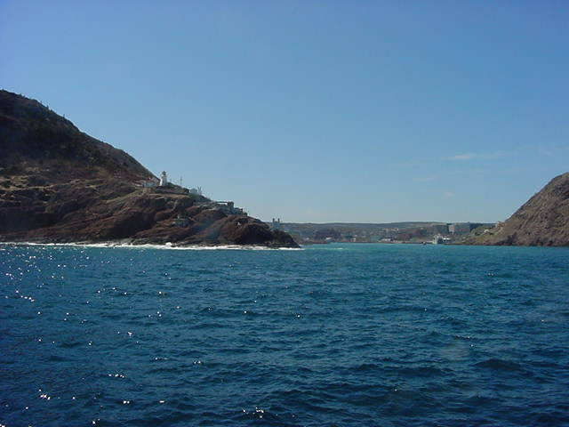 Back to the Harbour with a view on Fort Amherst.