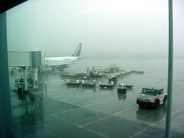 It was very foggy at the airport today, I almost wondered if my flight would be cancelled. But I guess they are used to the fog here...