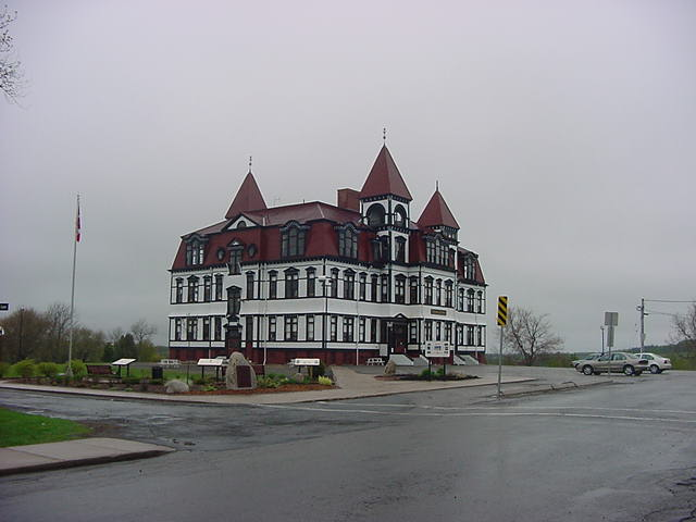 with time left for sightseeing rainy Lunenburg today. But can you believe that this building is the Lunenburg Academy?! Wow. What a great building. The actually gym is on the top floor!