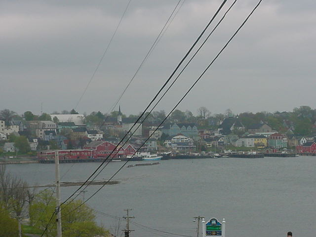 Back in Lunenburg, as seen from across the little bay.