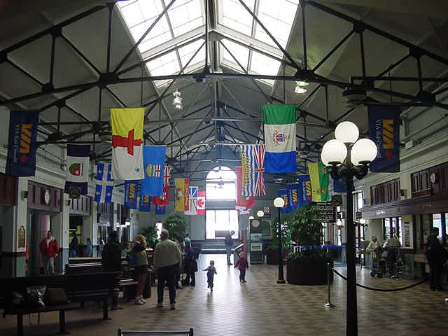 The train station in Halifax, very colourful, also very quiet.
