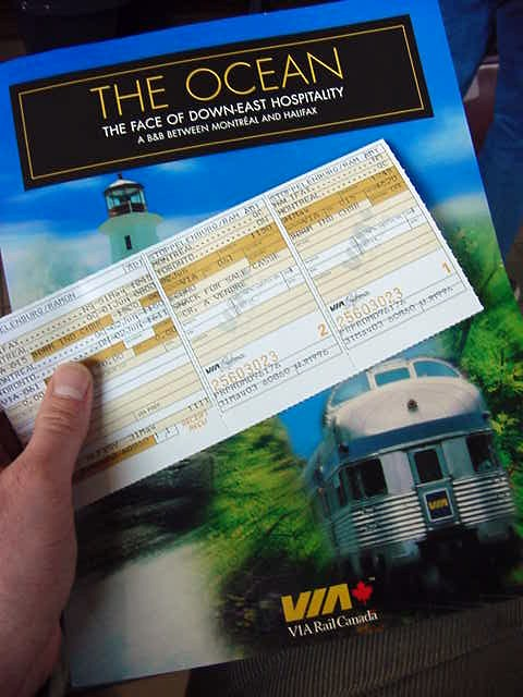 At the station I checked in with the code that was emailed to me by the general sales agents at VIA Rail, who proudly sponsors my train transport - all the way from Halifax to Vancouver. VIA Rail is good! VIA Rail is great! VIA Rail is the best!