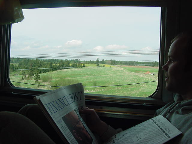 While Nova Scotia was exchanged for the scenery of New Brunswick I read the National Post, the Globe & Mail, MacLeans magazine, Time, Newsweek and etcetera. I think I just caught up with all the things that are happening in the world.