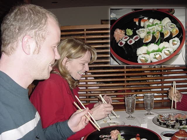 Glenda: Having checked with a few forum-regulars before his arrival, for opinions on Ramon<#k#>'s favourite foods, I decided sushi might be a treat for dinner tonight.