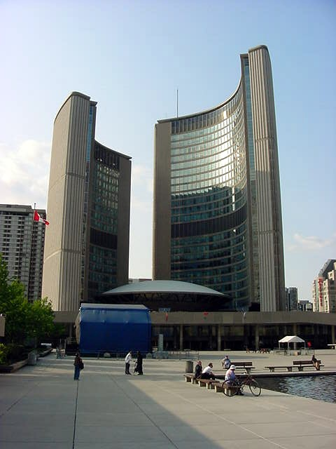 While this is the NEW City Hall of Toronto. Shawn does not really like it.