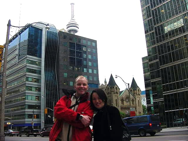 Karen and me on Yonge Street. Thanks for the tour, Karen!