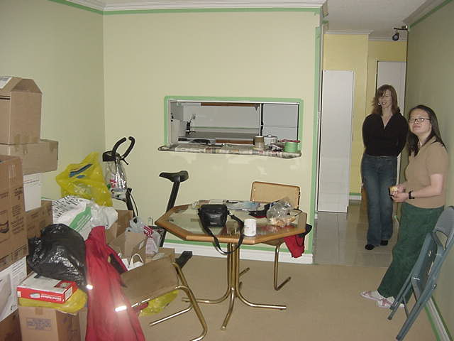 Genny moved into her own little one-room apartment last week, most of her stuff was still piled up against one wall.