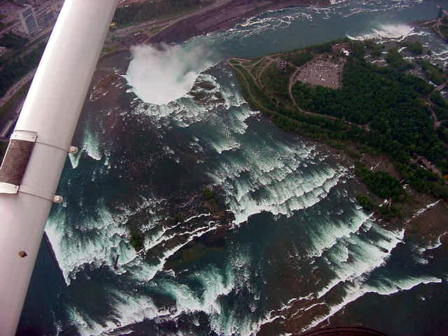 You should see how fast that water was heading for that horseshoe fall. Incredible from up here!