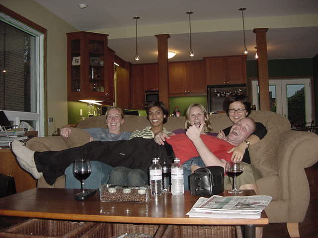 An hour later I joined four ladies gossiping around about characters on television, being amazed on what they saw � in a way only young women can. And I was lying on their laps. Of course very shortly, for the photo, but you can understand I felt very comfortable in this situation.