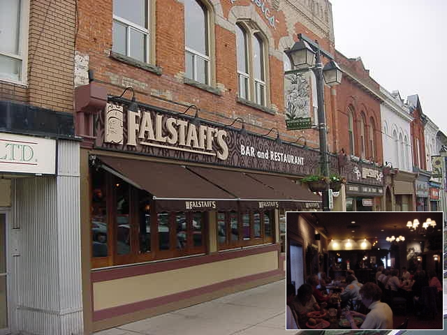 For dinner my host took me along to Falstaff<#k#>'s (hey, a Shakespeare character!) restaurant.