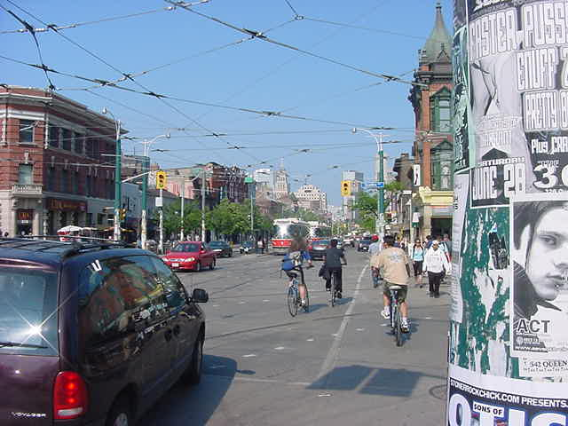Back at the famous crossing of Queens Street and Spadina Street.