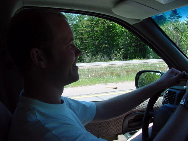 And you know what? As good-hearted they were, they let me drive! Hey, it was only down the road, some 200 km to Huntsville.