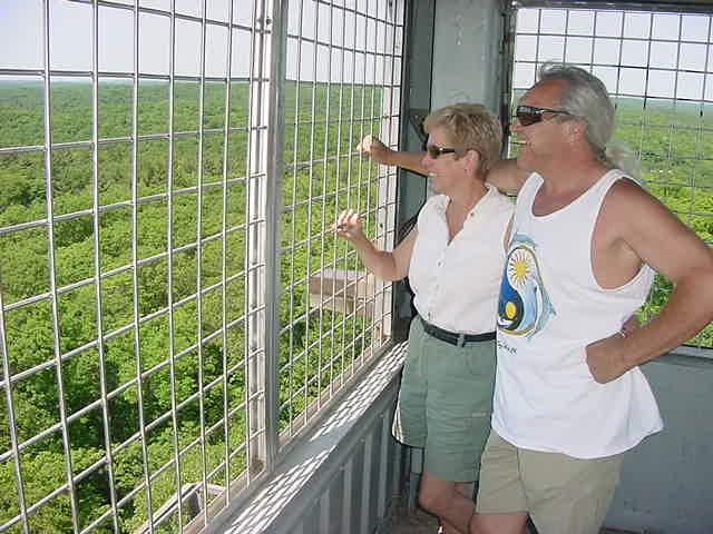 Elaine and Brian enjoyed the weather and the view too!