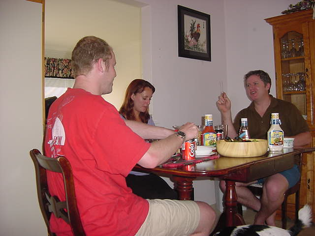 And during dinner Blaine told me their stories of their one-year-trip through Australia. They found it fascinating. Kelly is not happy with living in North Bay, and they might want to emigrate to Australia.