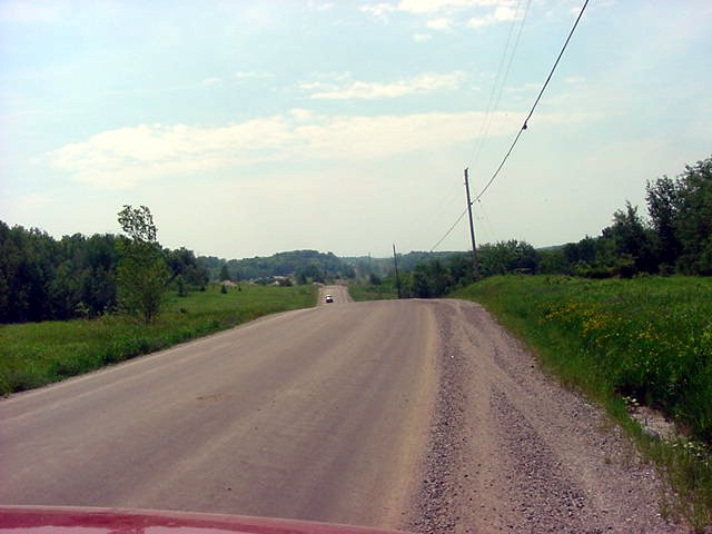 Cathy lives outside of town, quite a drive into the country where the roads are not paved anymore.