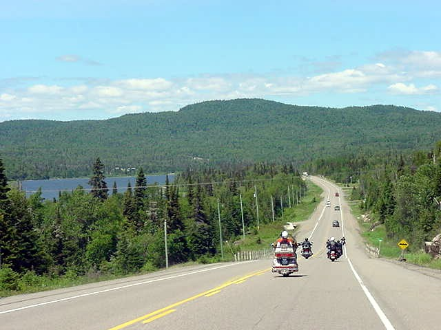 On the Terry Fox Highway to Thunder Bay.