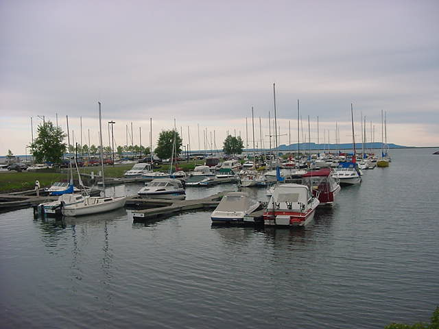The leisure port of Thunder Bay.