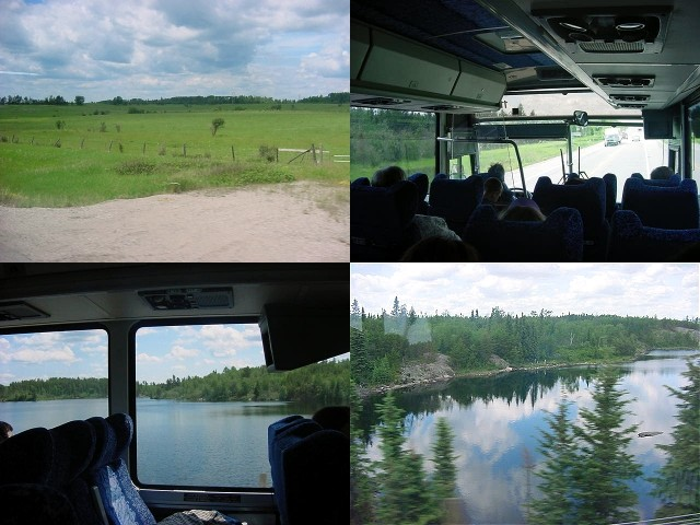 Various beautiful views from the bus.