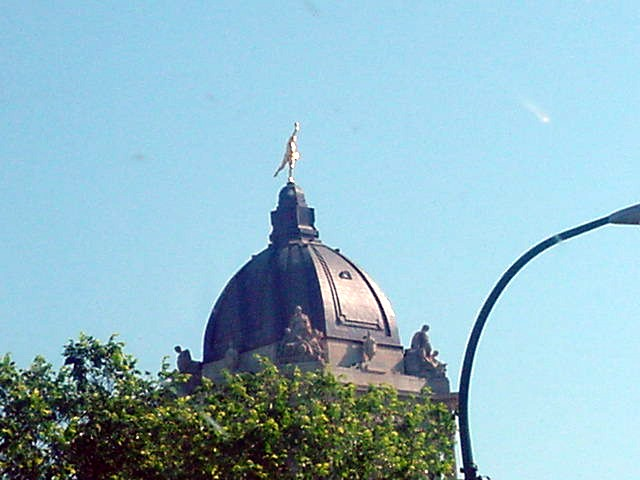 The crowning glory of our Legislative Building is The Golden Boy, who sits atop the dome.   The Golden Boy is probably Manitoba<#k#>'s best known symbol.