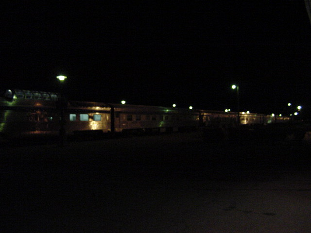 1.30 in the morning. The train has arrived near Saskatoon, Saskatchewan.