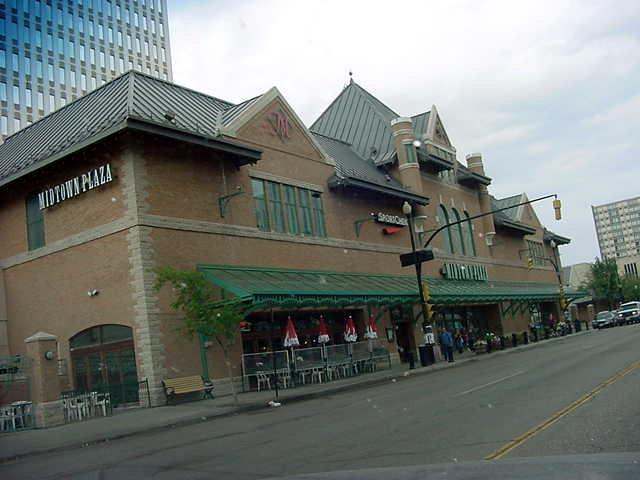 And what used to be the central train station of Saskatoon, is now a big mall.
