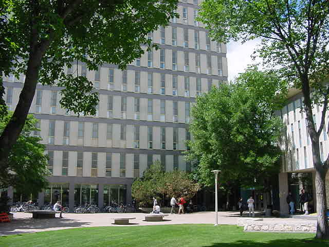 On one side the University is very modern...