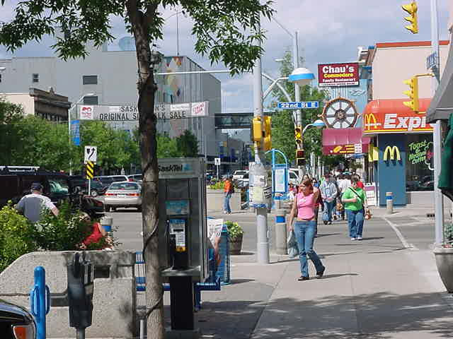 Downtown Saskatoon.