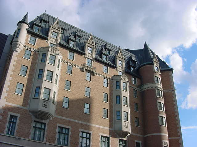 The Bessborough Hotel in Saskatoon is one of the many hotels in Canada that were once built by the rail company. They are all built in the same style.