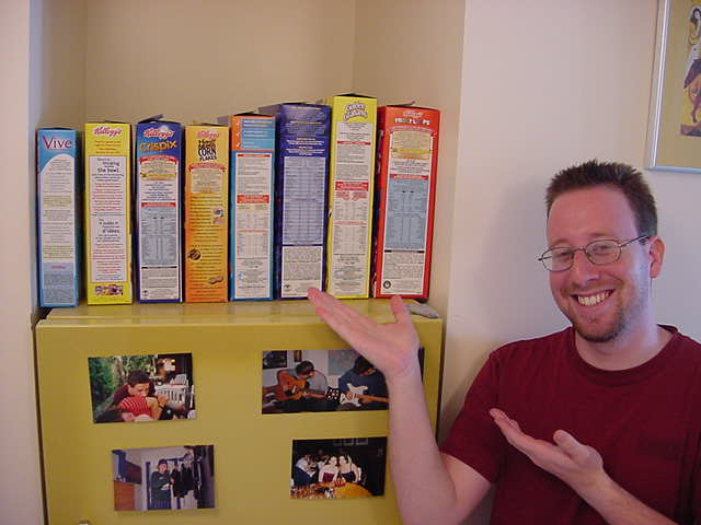 - Ramon, you select what kind of breakfast cereal you want!