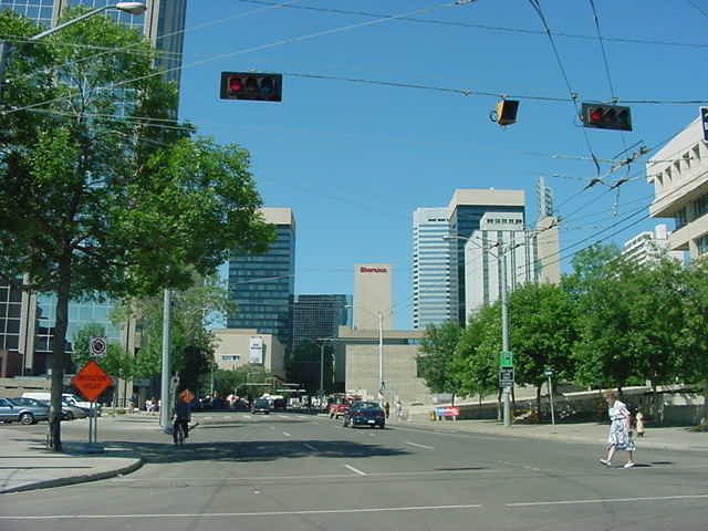 Leaving downtown Edmonton to go all the way west of town, to visit a very special mall.