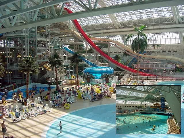 I mean, not every mall has a collection of swimming pools, water slides and wave pools!