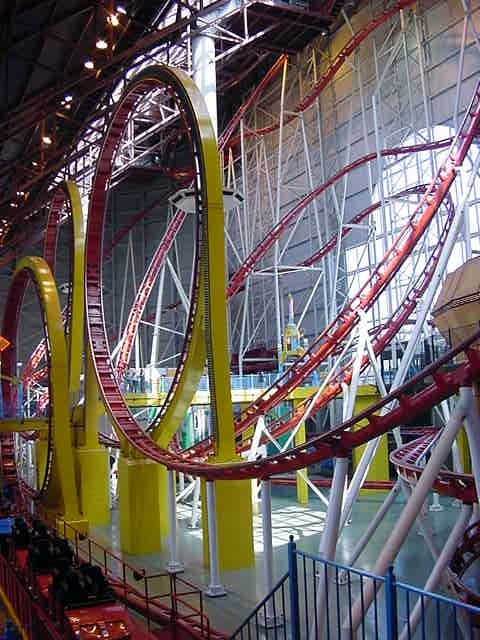 The worlds biggest indoor rollercoaster....