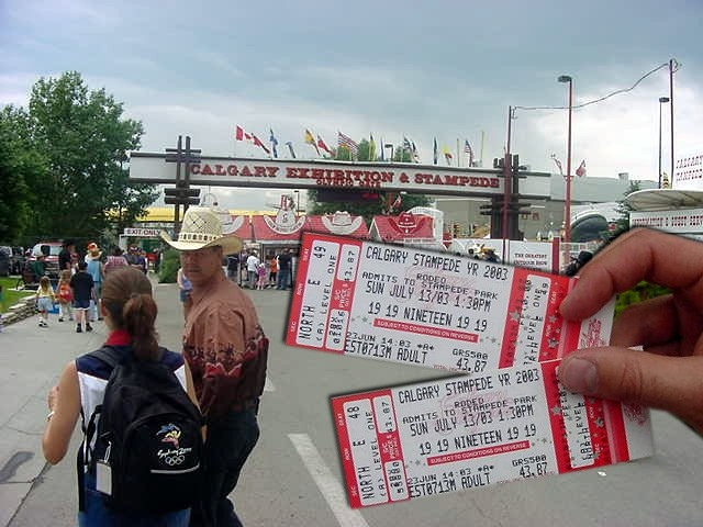 It was Michelle Dubois from the Stampede headquarters at the Stampede Park who was pleased to assist us both with a free ticket to the fairground and the rodeo shows.
