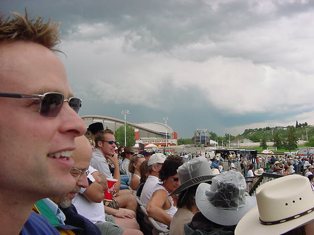 In the meantime a big dark cloud covered the Stampede.