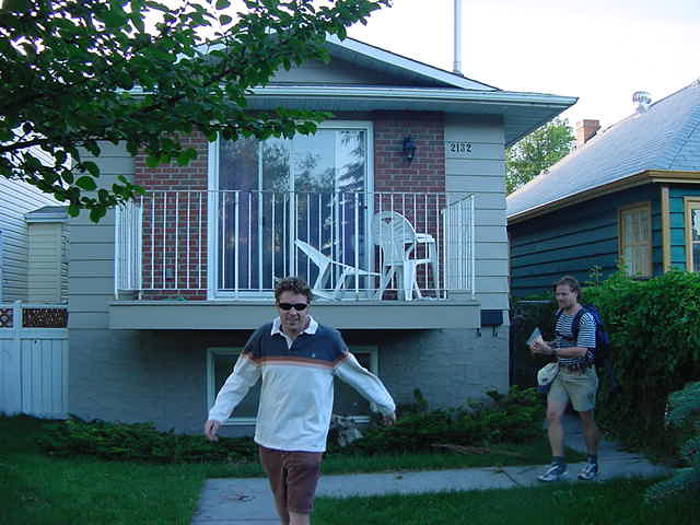 Pete is Erins friend from Denmark, where they met. Pete moved to Calgary and now works on this house, another project by Betty Collins.