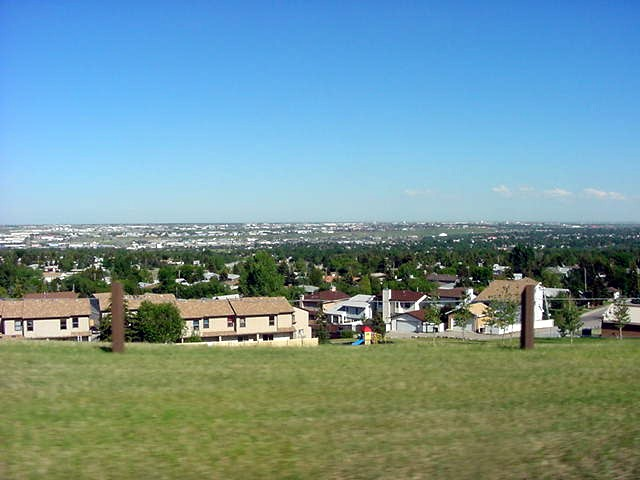 As seen from a hill top: endless suburbs...