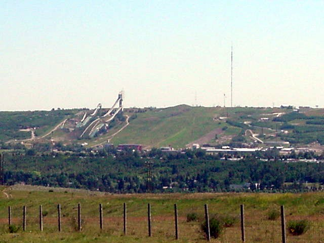 And I saw the big ski jump arena that was used in the 1988 Olympics coming up.