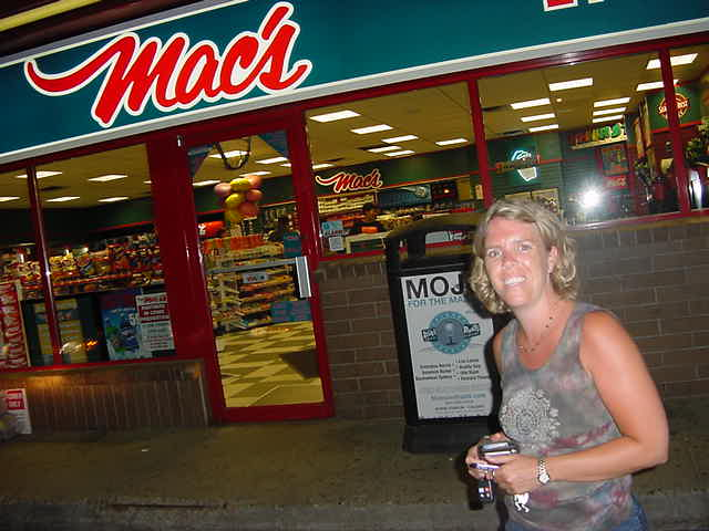 Jocelyn took me along to the Macs where we looked around for some groceries. Tomorrow I am getting on a five hour train and Joccy would help me with something on the train.