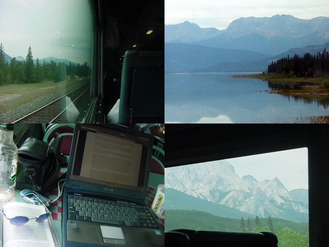 While enjoying the scenery passing by, I settled myself in the entertainment room and typed out some writing.