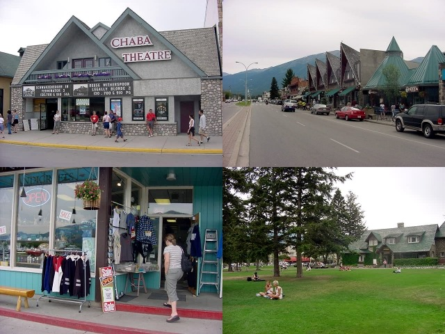 Andrea took me for a walk around Jasper. It is a relatively small town and as you can see it is all about tourism here!