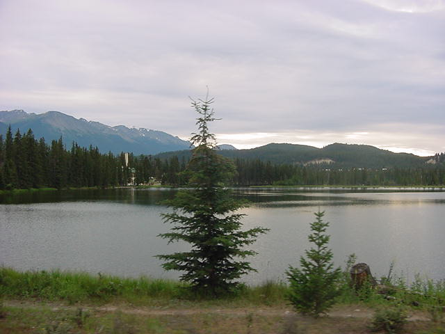 On the road to the Lake, some 48 kilometres south of Jasper, I saw so many other lakes. I almost just wanted to jump in there!