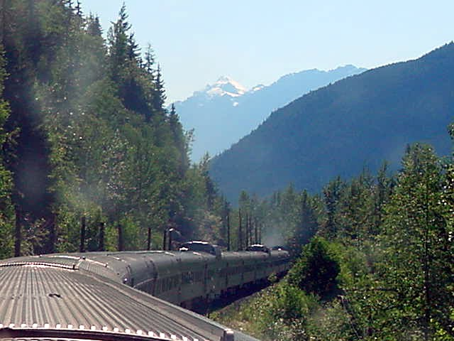 And the train continued to swirl through the mountains.