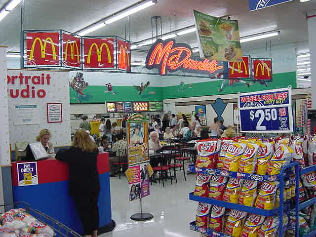 Yeah right! A McDonalds right IN the supermarket! Crazy Northamericans!