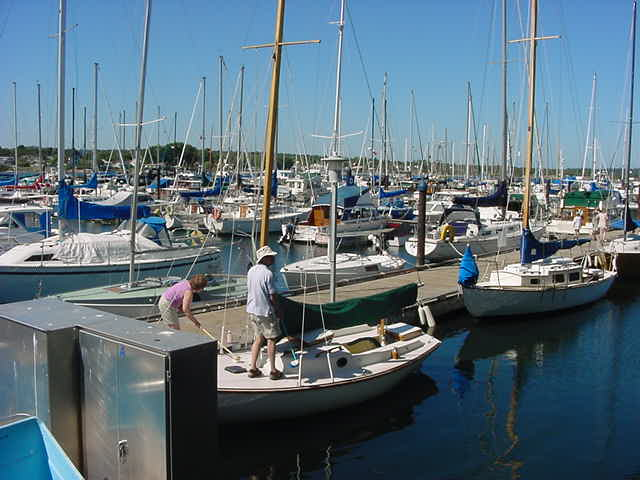 The weather was great for a look around at the Oak Bay Marina.