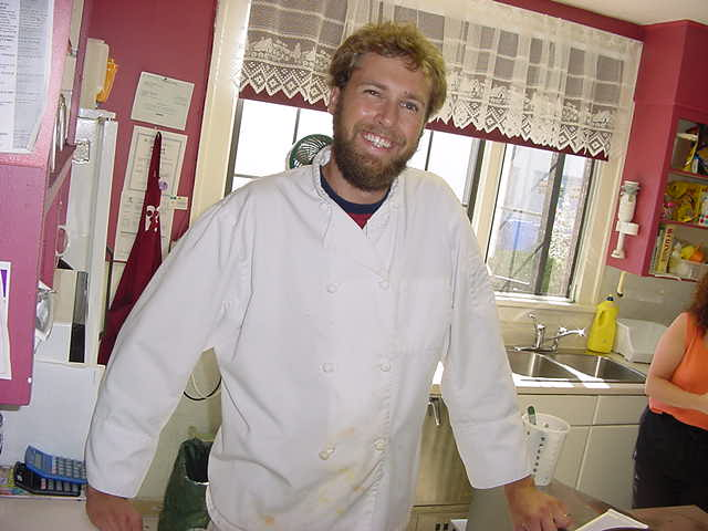 Meet Ian, Annas boyfriend, working as a chef in the kitchen of the Windsor House tea room & restaurant.