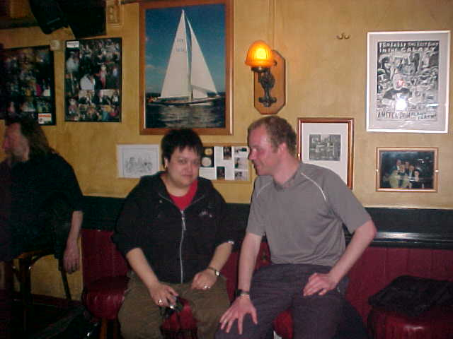 This is Caroline and me in the Irish café Mulligans, after the movie.