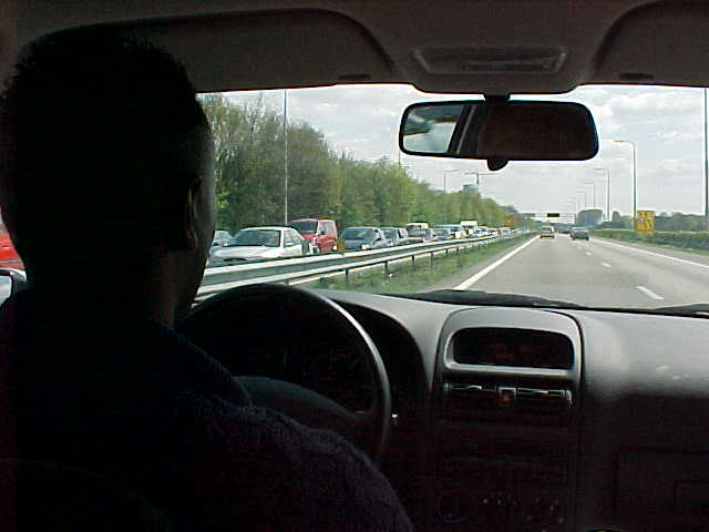 In a car on my way from Rotterdam to Breda.