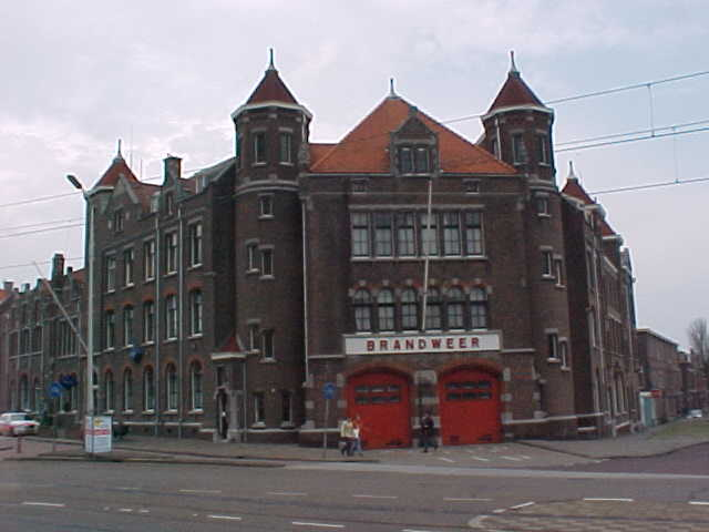 From Amsterdam to Scheveningen; a suburb of The Hague. Here you see the monumental building of the local fire department in Scheveningen.