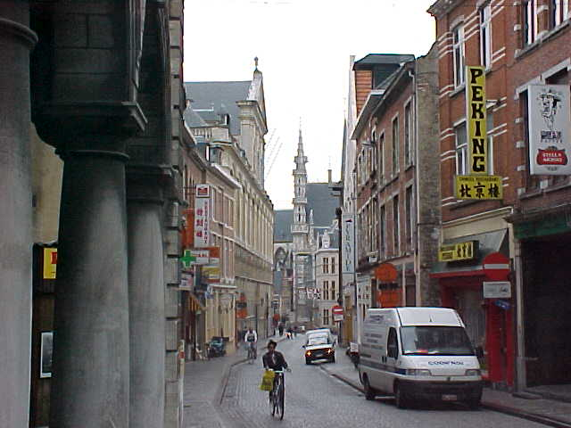 A view in just a street of the historical center of Leuven...