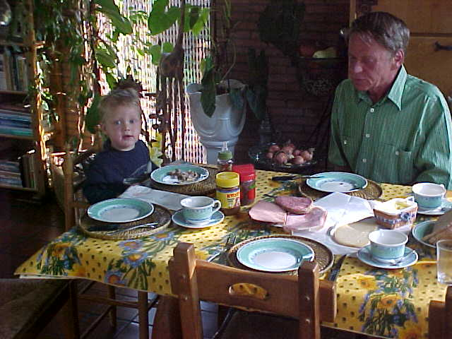 Breakfast with Johan & Hennie Huisman, with their grandson visiting over...